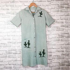 Vintage Leona Caldwell Originals Button Down Dress